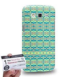 Case88 [Samsung Galaxy Grand 2] 3D impresa Carcasa/Funda dura para & Tarjeta de garantía - Art Carpet And Tapestry Aqua