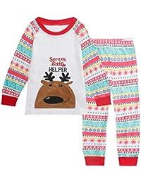 Christmas Girls Pajamas Children Clothes Set 100% Cotton Little Kids Pjs Sleepwear