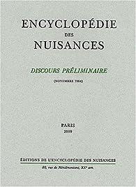 Discours préliminaire de l'encyclopédie des nuisances : Novembre 1984 par Jaime Semprun