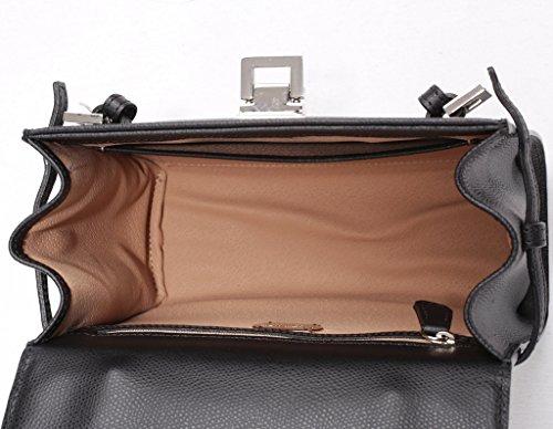 JOSYBAG bezaubernde Ledertasche Perth - schwarz/ Delphin - Tasche mit Handgriff + langem Schulterriemen WELTKLASSE