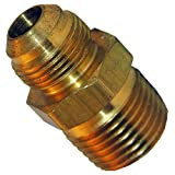 LASCO 17-4869 3/4-Inch Flare by 3/4-Inch Male Pipe Thread Brass Adapter