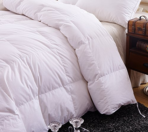 Topsleepy 50% Goose Down and 50% Feather Filling Queen (88-by-88-Inch) Bedding Comforter, White by Topsleepy (Image #1)
