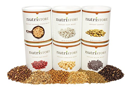 Instant Bean 6 Pack | Great Taste | Easy to Prepare | Emergency Survival Food | by Nutristore by Nutristore