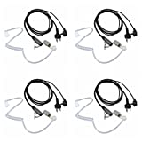 Walkie Talkie Earpiece for Midland with Mic Security Headsets for GXT1000VP4 LXT600VP3 GXT1050VP4 GXT1000XB (4 Pack)