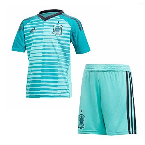 Adidas Goalkeeper Kit (2018-2019 Spain Home Goalkeeper Adidas Youth Kit)
