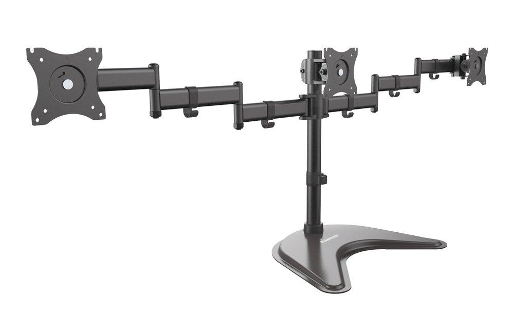 Ergonomic Articulating Triple Arm Display Table Top Mount