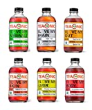 Teaonic Herbal Tea, Organic, Natural, Caffeine-Free, Handcrafted Brewed Unsweetened, Variety 12-Pack   Adrenal, Brain, Gut, Liver, Skin, Body