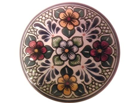 6 Inch Coffee Talavera Mexican Puebla Certified Plate Emperatriz Style By Alonso Luis  sc 1 st  Amazon.com & Amazon.com | 6 Inch Coffee Talavera Mexican Puebla Certified Plate ...