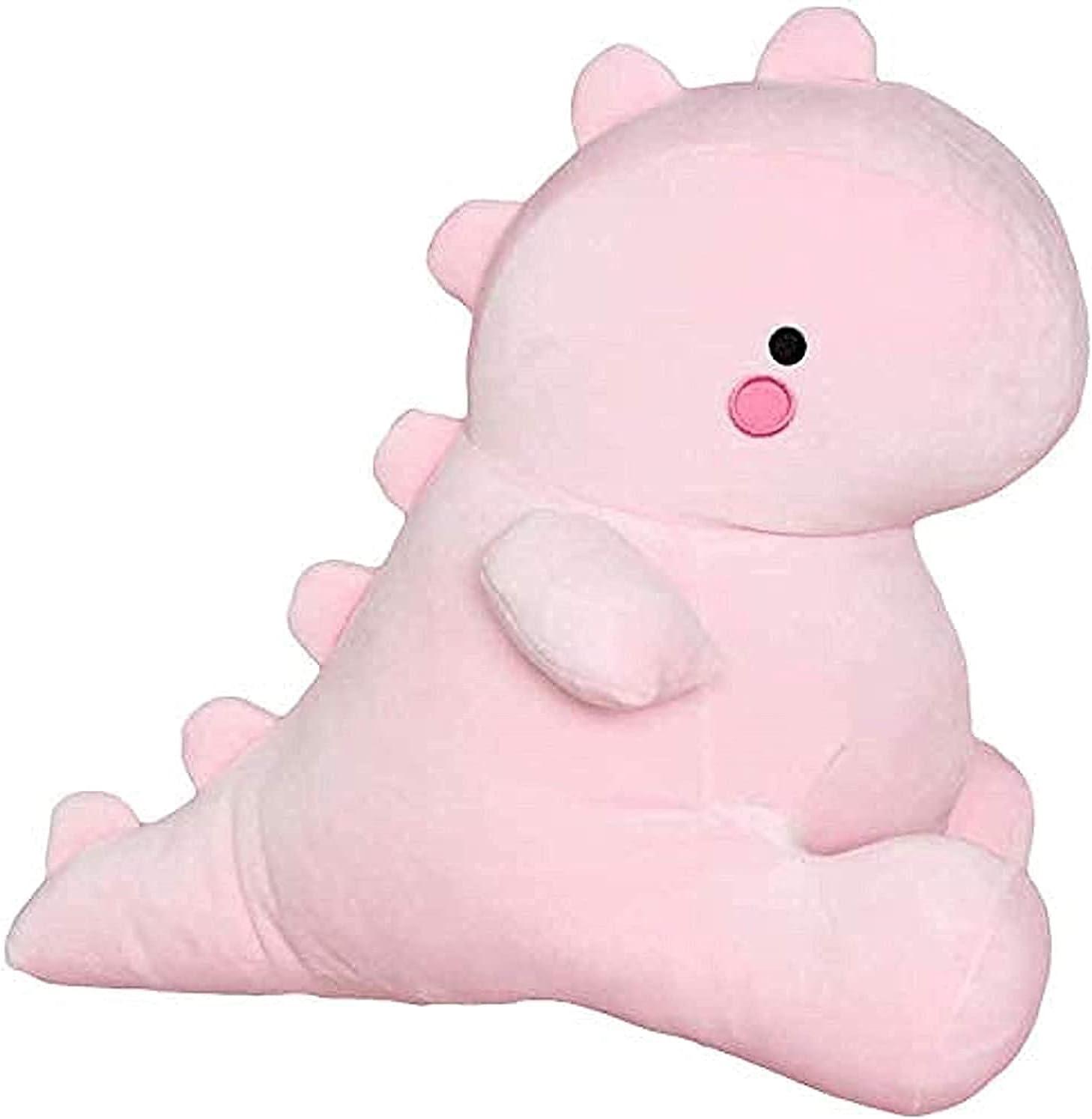 Cute Charming Cartoon Fashion Funny Pretty Dinosaur Stuffed Animals Shape Big Hugging Pillow Soft 3D Pom Plush Toy Doll Ultra Fabric Bed Rest Chair Bolster Nursery Decoration Gift for Kids (Pink)