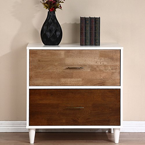 Christian 2-drawer File Cabinet (Nightstand Cabinet File)