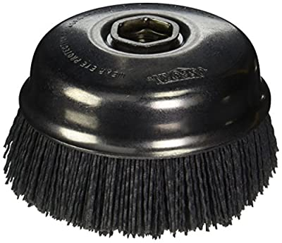 "Osborn 32125SP Abrasive Cup Brush, Silicon Carbide, 6000 Maximum RPM, 4"" Diameter, 5/8-11NC Arbor Hole, 0.040 Fill Diameter, 1-1/2"" Trim Length, 120 Grit Size"