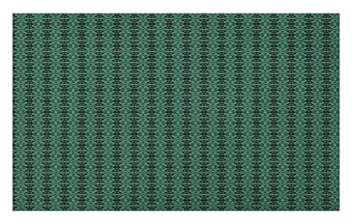 Lunarable Green and Black Doormat, Antique Motifs of Chinese Spiral Butterfly Flowers Ancient and Royal, Decorative Polyester Floor Mat with Non-Skid Backing, 30 W X 18 L inches, Jade Green Black by Lunarable