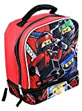 LEGO NINJAGO MOVIE Boys Lead Safe Dual Chamber Insulated Lunch Box Tote Bag