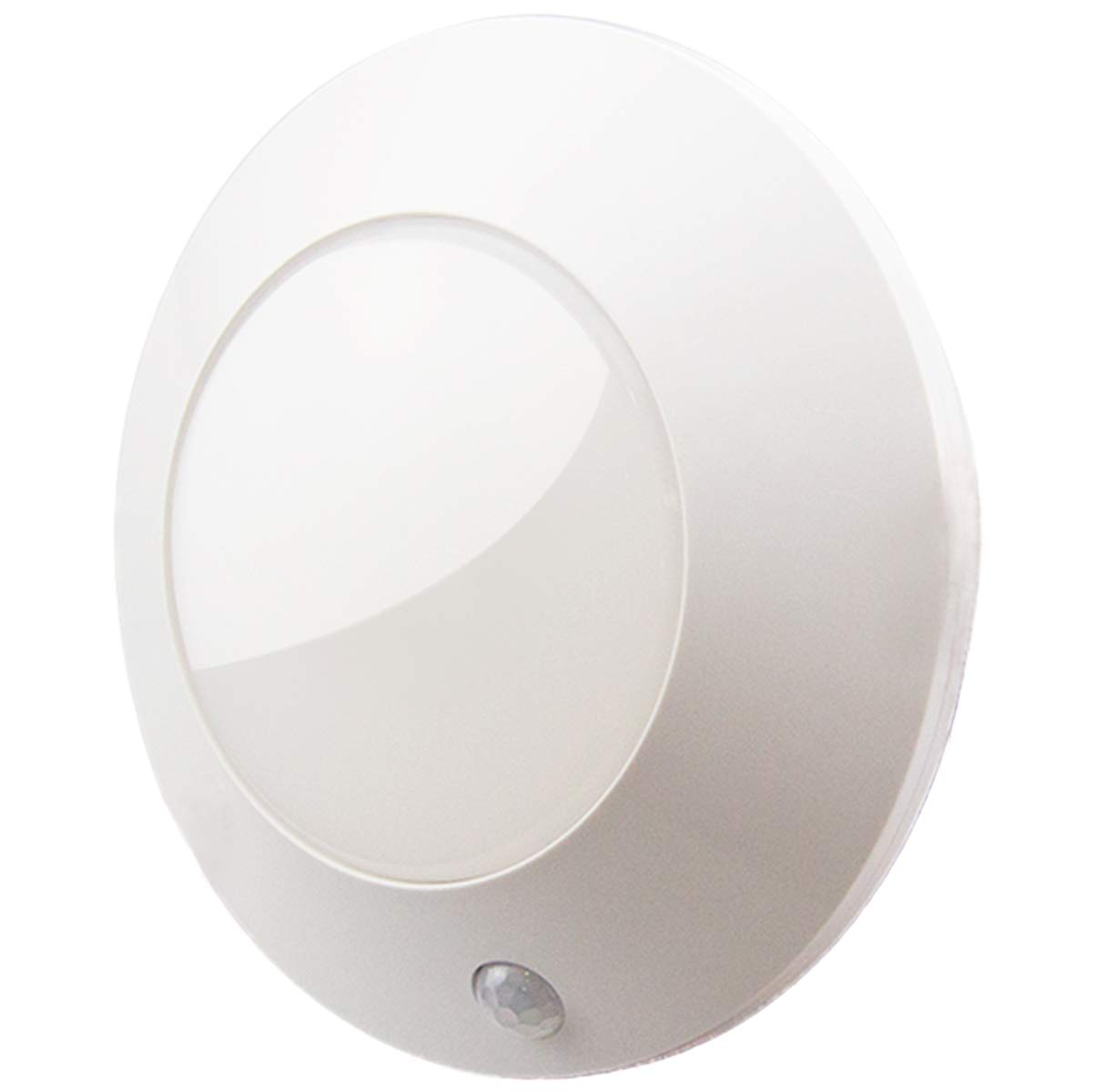 BIGLIGHT Bright Wireless Battery Operated Motion Sensor LED Ceiling Light, Motion Light for Shower Hallway Pantry Stairway Closet Entrance Hall Corridor Bathroom Shed, 250 Lumens, 5 Inch, Warm White