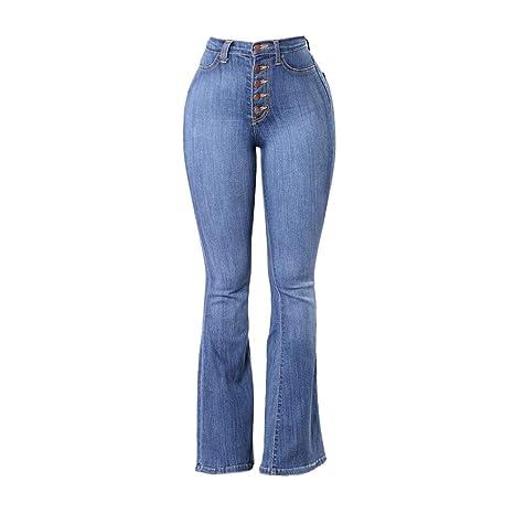 45be62b59abac7 Donna Jeans Skinny a Vita Alta,Jeans Dritti a Vita Alta Donna,Donna Jeans