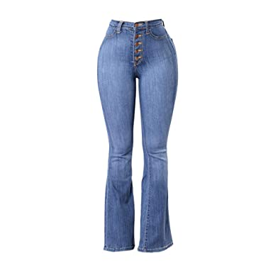 1cadfe6272c Women Pants Ladies High Waisted Skinny Denim Jeans Multiple Occasions  Stretch Slim Button Pants at Amazon Women s Jeans store