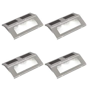 Vidaxl Lot De 4 Lampes Solaires Pour Escalier Eclairage Pour
