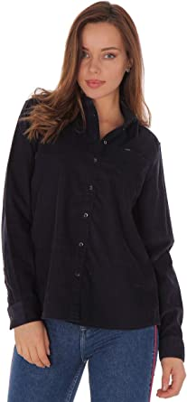 Lee - Camisa de pana para mujer, corte normal, azul marino (Midnight Navy): Amazon.es: Ropa y accesorios