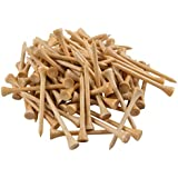 PGA Approved Professional Bamboo Golf Tees 2-3/4 Inch - FREE Poker Chip Ball Marker - Almost Unbreakable 7x Stronger than Wood Tees Biodegradable & Less Friction, 250, 500 or 1000 Bulk Bag