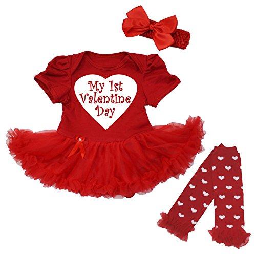 Petitebella First Valentine Day L//s Shirt Red White Stripes Baby Skirt 3-12m