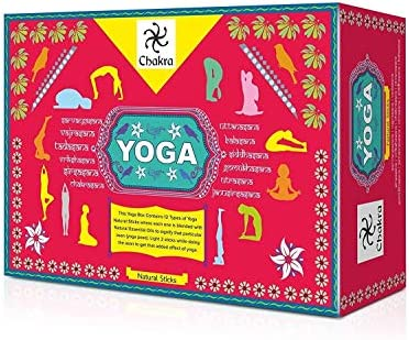 Chakra Yoga Natural and Hand Made Incenses Sticks - 12 Fragrance Sticks for 12 Asanas - Made from Natural Essential Oils and Herbal Products - 12 Packs (10 Sticks Per Pack)