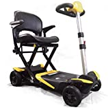 Enhance Mobility - The Transformer - Electric Folding Scooter - 4-Wheel - Yellow