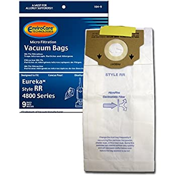 9 Eureka Style RR Vacuum Bags Micro Lined Allergen Filtration #61115 boss Smart vac 4800