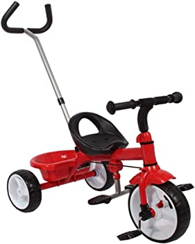 xy Triciclos Triciclo For Niños, Cochecito Portable, Asiento Cómodo, Bicicleta Adecuada For Niños De 1 A