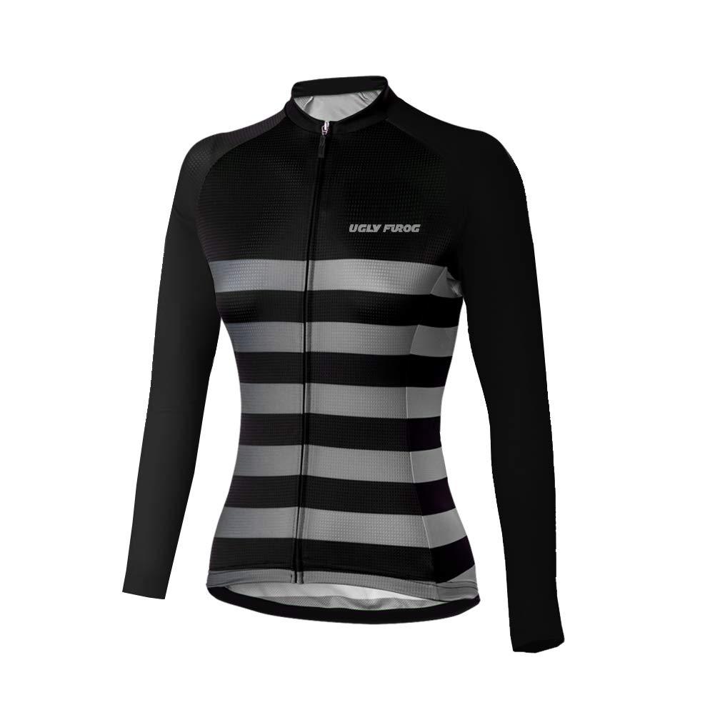 Uglyfrog Bike Wear Damen Outdoor Bekleidung Langarm-Radtrikot Top Fahrrad Shirt Bike Jersey Frü hling/Herbst Style