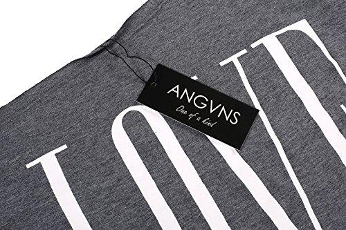 Angvns Gris shirt T T Angvns Femme vxrqvUa