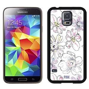 Unique Samsung Galaxy S5 Case Design with Victoria's Secret Love Pink 04 Black Phone Case for Samsung Galaxy S5
