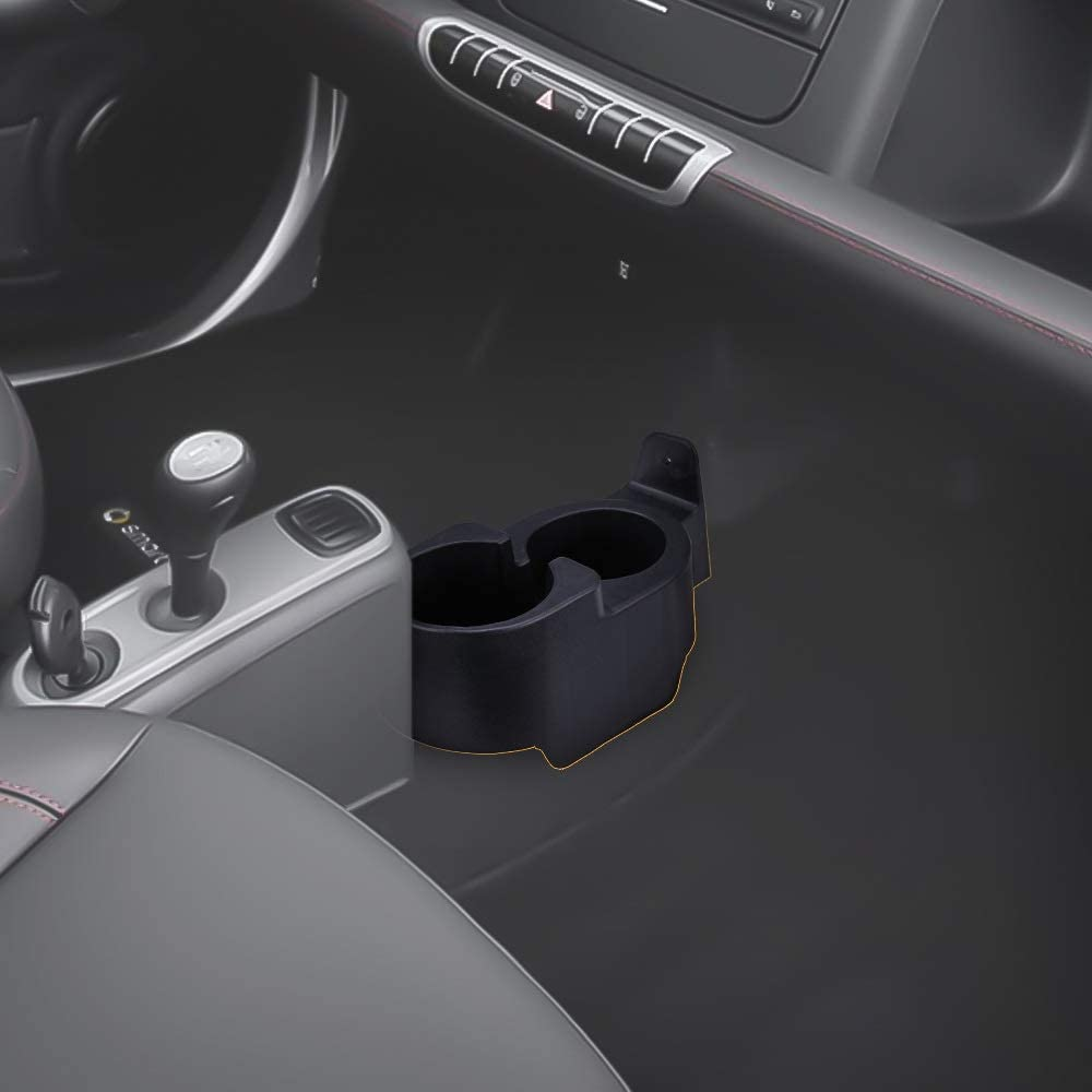 Upgraded Car Drinks Holder Cup Mount Center Console Double Cup Holder For 451//450 1998-2015 Car Bottle Organizer Color : Black