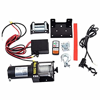 UBRTools Classic 2500lbs 12V Electric Recovery Winch Truck SUV Wireless Remote Control