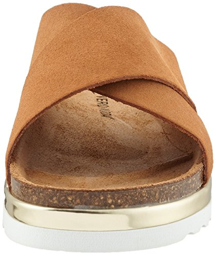 Leather Moda Vmlisa Cognac Sandales Vero Femme Marron Romaines qEd56pT
