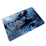 IOVEQG Entrance Way Floor Door Mat Super Absorbent Frosty Frost Mats for Bedroom 60x90cm Mats White 24x35 inch