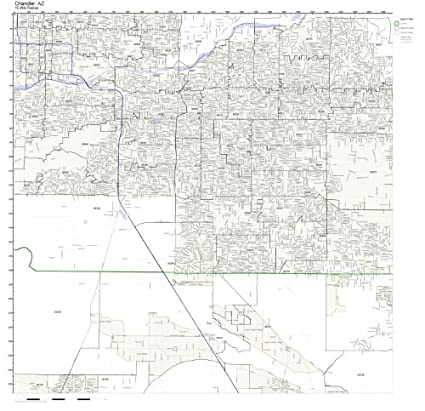 Amazon Com Chandler Az Zip Code Map Not Laminated Home Kitchen