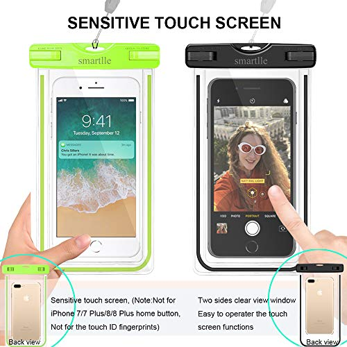 Smartlle Waterproof Phone Pouch, Universal Waterproof Phone case, Dry Bag Outdoor Beach Bag for iPhone 11/11 Pro/11 Pro…