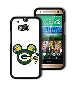 HTC one M8 Funda Green Bay Packers FC Logo Ultrafina Funny Anti Scratch Drop Proof Back Case Cover Para Chico