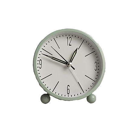 UNU_YAN Despertador Redondo Mesa de Escritorio Relojes de cabecera ...