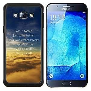 - TEXT MESSAGE BETTER CLOUDS INSPIRE MOTIVATE - Caja del tel¨¦fono delgado Guardia Armor- For Samsung Galaxy A8 A8000 Devil Case