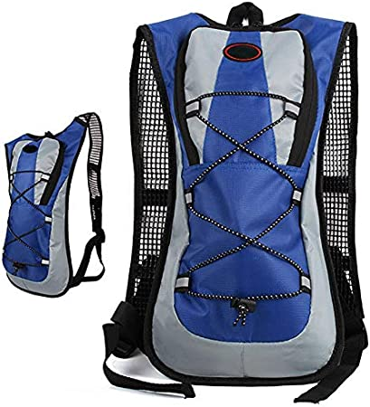 Timagebreze Outdoor Camping Water Bag Hydration Backpack For Hiking Riding Water Pack Bladder Soft Flask Blue