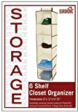 Eurohome 6 Shelf Closet Organizer Perfect for Storing All Household Items