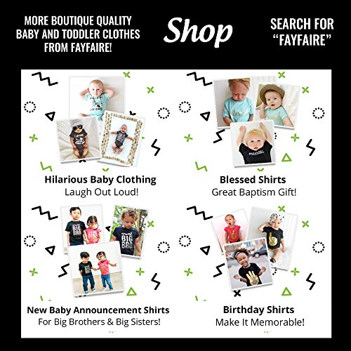 Fayfaire Gift for New Moms: Outfit for Boy or Girl My Moms The Bomb 6M-12M Black by Fayfaire (Image #3)
