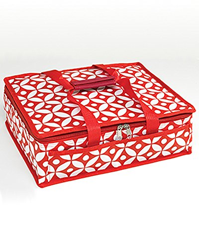 Dessert | Casserole Travel Bag | Totes (Red/White)