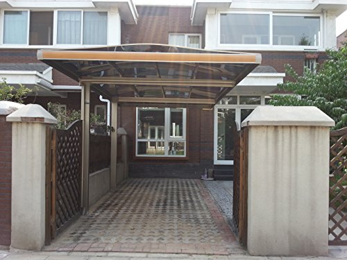 10' x 18' Metal Carport Canopy Aluminum Carport Covers Durable with Gutter Metal Vehicle Shelter RV Carport Metal Garage for Car, Yacht and Copter, Also Is Luxury Patio Cover by ClearYup (Image #3)