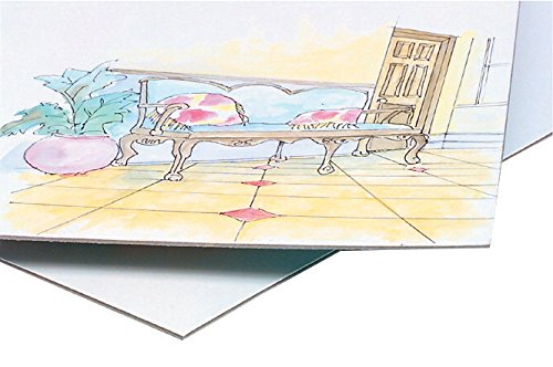 Crescent 100 Cold Press Illustration Boards, 30 x 40 Inches, White, Pack of 10 by Crescent