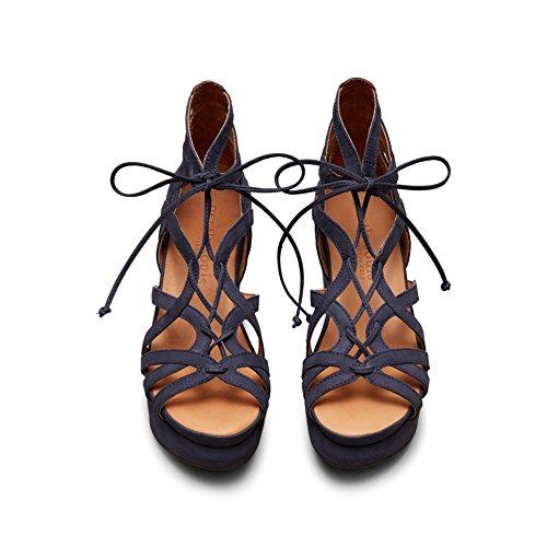 Milda Själar Kvinna Glädje Plattform Sandal Navy