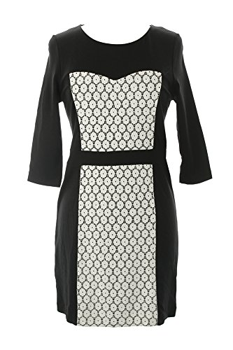 kensie Women's Contrast Ponte Dress