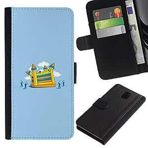 All Phone Most Case / Oferta Especial Cáscara Funda de cuero Monedero Cubierta de proteccion Caso / Wallet Case for Samsung Galaxy Note 3 III // Painting Children Playground