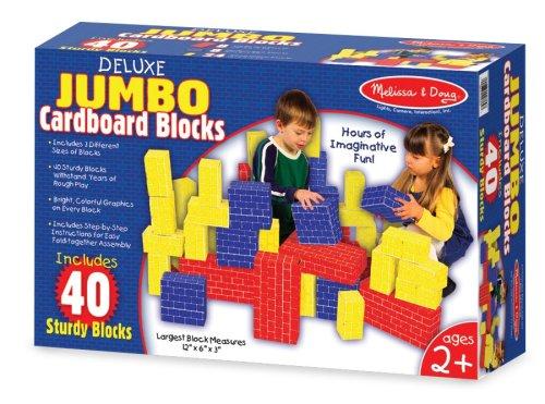 Melissa and Doug Deluxe Jumbo Cardboard Blocks, Baby & Kids Zone